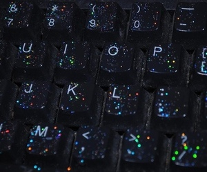glitter, grunge, and keyboard image