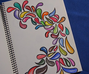 doodle, color, and draw image