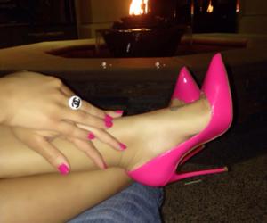 pink, heels, and nails image