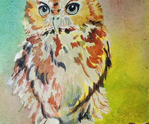 art, artsy, and owl image