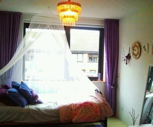 bedroom, chandelier, and vintage image