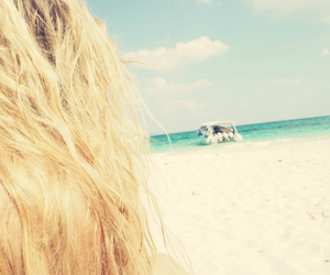 blonde, beach, and girl image