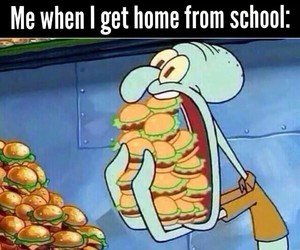 school, funny, and food image
