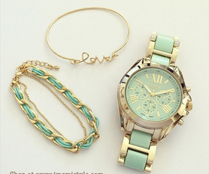 chic, green, and bracelet image