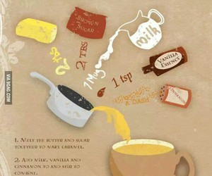 harry potter, butterbeer, and recipe image