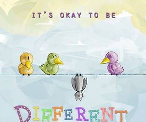 different, quote, and bird image