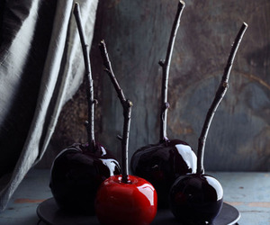 apples, black, and gothic image