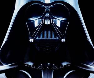 black, darth vader, and star wars image