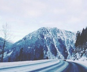 cold, mountain, and snow image
