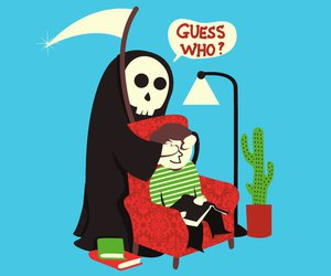 death, funny, and guess who image