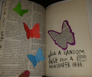 butterflies, newspaper, and WTJ image