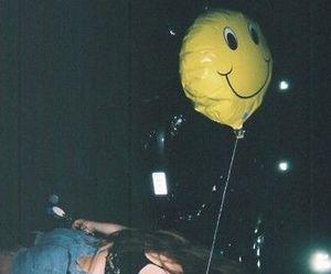 grunge, girl, and balloon image