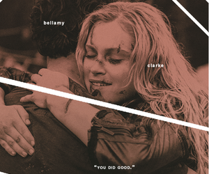 bellamy, clarke, and the100 image