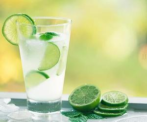 drink, lime, and water image