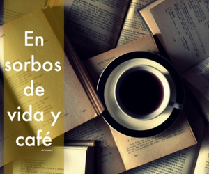 books, vida, and cafe image