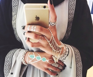 iphone, hijab, and nails image