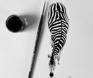 art, zebra, and drawing image