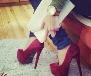 fashion, shoes, and red image