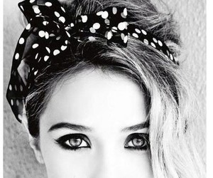 beuty, black and white, and eyes image