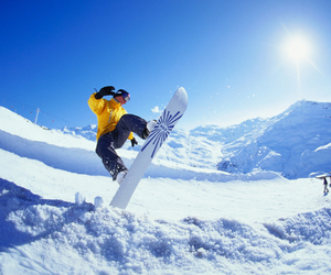 snow, mountains, and sports image