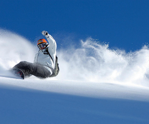 snow, snowboarding, and slope image