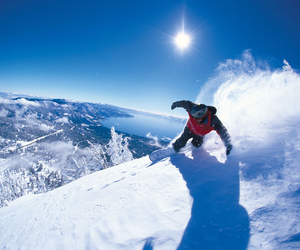 snowboarding, slope, and snow image