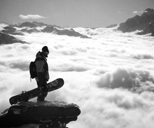 slope, snow, and snowboard image