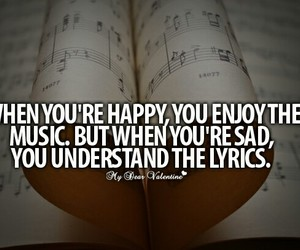 music, sad, and Lyrics image