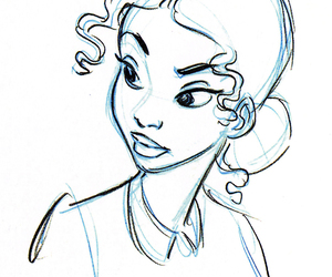 disney, sketch, and the Princess and the frog image