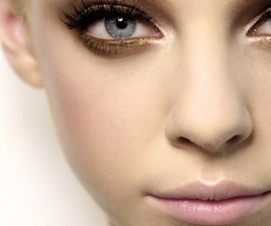 model, make up, and eyes image