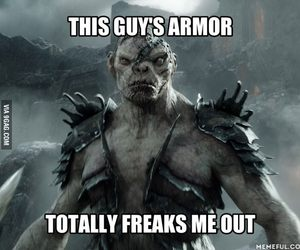 armor, hobbit, and orc image