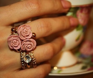 ring, flowers, and rings image