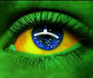 bresil, oeil, and drapeau du brésil image