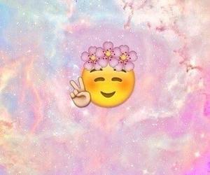 emoji, peace, and pink image