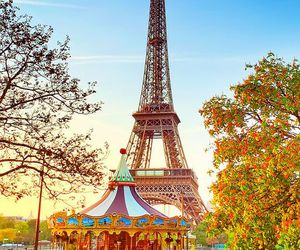 paris, carousel, and france image
