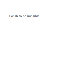 i, invisible, and me image
