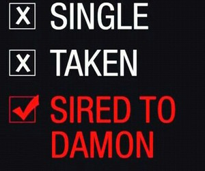 damon, dating, and elena image