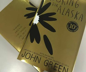 books, gold, and john green image