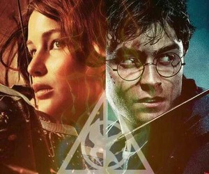 harry potter, the hunger games, and hunger games image