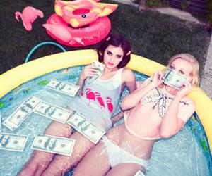 girl, money, and pool image