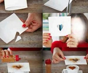heart, diy, and coffee image