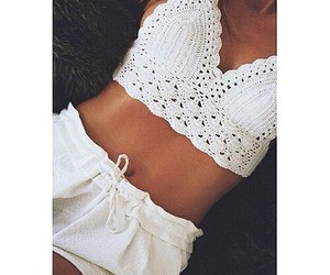bed, outfit, and white image