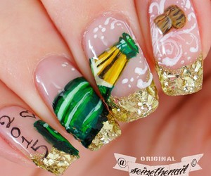 amazing, champagne, and nails image