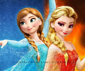 anna, fire, and frozen image
