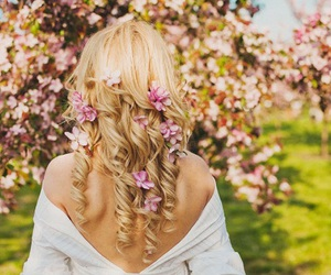 beauty, flowers, and girly image