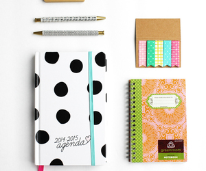 pens, work space, and school supplies image