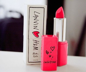 lipstick, pink, and H&M image