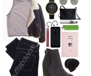 outfits, tumblr, and Polyvore image