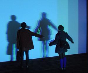 grunge, blue, and couple image