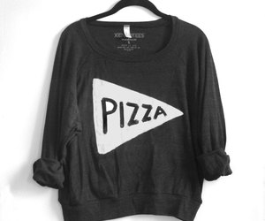 pizza, black, and clothes image